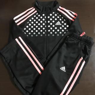 アディダス(adidas)の120㎝ adidas アディダス キッズ ジャージ上下セット ブラック×ピンク(その他)