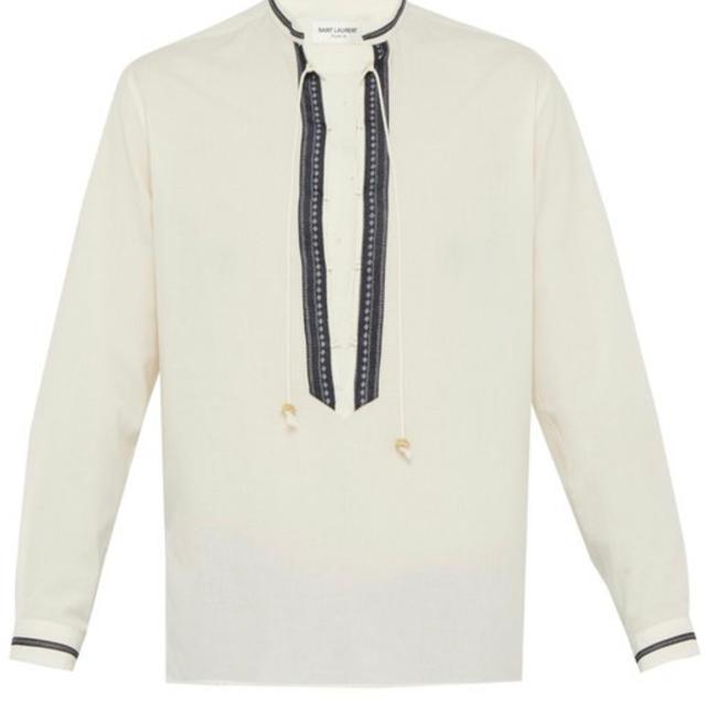 Saint Laurent(サンローラン)のSaint Laurent レースアップカラー シャツ メンズのトップス(シャツ)の商品写真