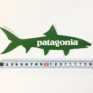 パタゴニア(patagonia)のパタゴニア ステッカー 1点 ☆ フィッシュ 魚 グリーン!(サーフィン)