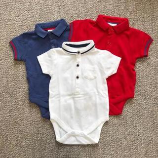 ネクスト(NEXT)の《新品・未使用》半袖 ポロシャツ ロンパース 3枚セット(ロンパース)