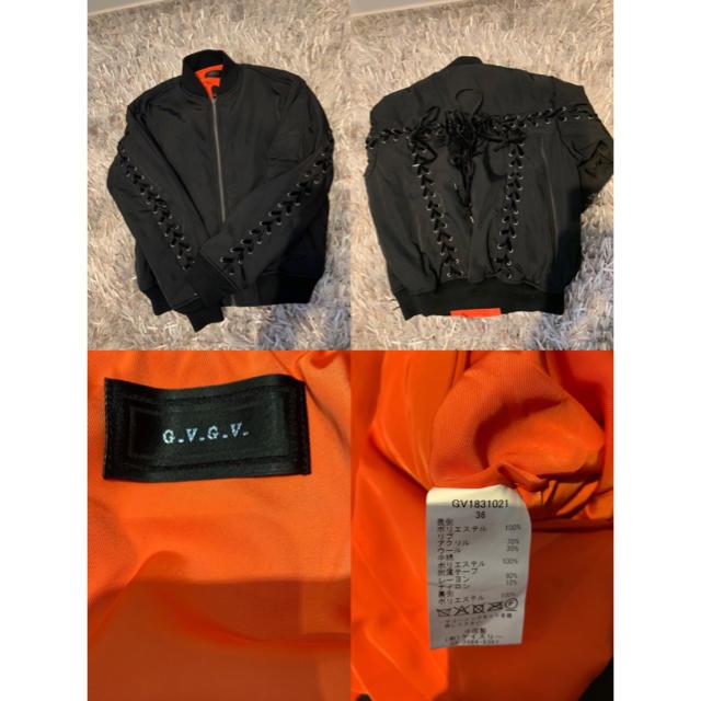 G.V.G.V.(ジーヴィジーヴィ)のG.V.G.V. レースアップ MA-1 18新作 黒36 レディースのジャケット/アウター(ブルゾン)の商品写真