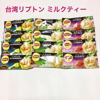台湾リプトン ミルクティー3種セット12袋(烏龍茶・ジャスミン・ストロベリー)(茶)