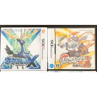 ニンテンドー3DS(ニンテンドー3DS)のポケモン3DS【X・ホワイト2・スクランブル】&【3DSパズドラZ】4点セット(携帯用ゲームソフト)