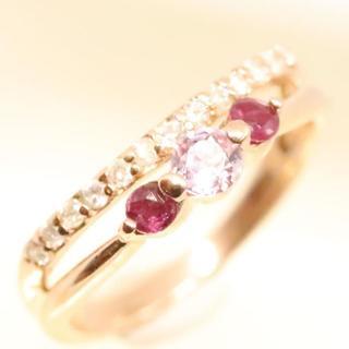 トクトクジュエリー 美品 大人用ピンキーリング ダイヤモンド(リング(指輪))