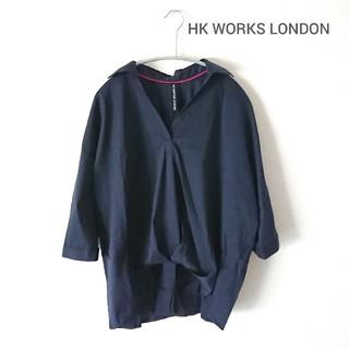 シマムラ(しまむら)のHK WORKS LONDON・スキッパーブラウス ネイビー(シャツ/ブラウス(長袖/七分))