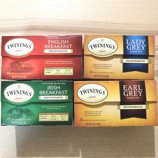 TWININGS トワイニング デカフェ 紅茶 4種 セット ノンカフェイン(茶)
