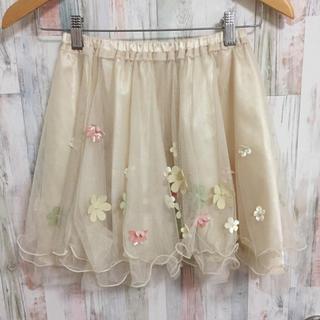 シークレットマジック(Secret Magic)のシークレットマジック お花 フラワー チュール スカート(ミニスカート)
