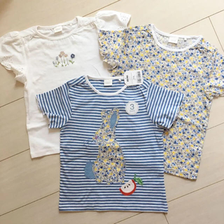 NEXT - 新品♡next 110 Tシャツ 3枚 うさぎ 小花柄