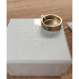 マルタンマルジェラ(Maison Martin Margiela)の18AW新品L マルジェラ ナンバリング ロゴ ツートーン リング(リング(指輪))