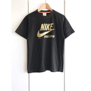 ナイキ(NIKE)の【美品】ナイキ/NIKE『ゴールドロゴ』プリントTシャツ/メンズ/L/ブラック(Tシャツ/カットソー(半袖/袖なし))