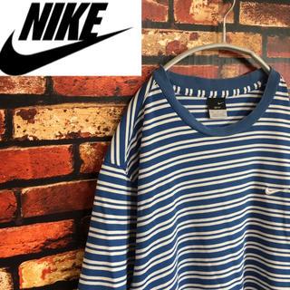 ナイキ(NIKE)の90s スポーツmix NIKE ナイキ 半袖 Tシャツ ボーダー ロゴ刺繍(Tシャツ/カットソー(半袖/袖なし))