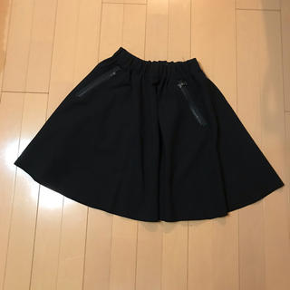 ザラ(ZARA)のZARA ザラ ブラック スカート(ひざ丈スカート)