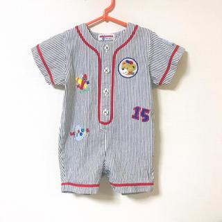 mikihouse - ミキハウス ロンパース 野球 ロゴ 90