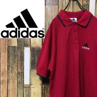 アディダス(adidas)の【激レア】アディダス☆デサント製パフォーマンス刺繍ロゴラインポロシャツ 90s(ポロシャツ)