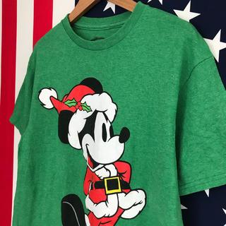 ディズニー(Disney)のUSA古着 サンタ ミッキー Tシャツ S(Tシャツ/カットソー(半袖/袖なし))
