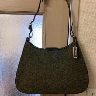 コーチ(COACH)の未使用に近い COACH 約3万 ウール×本革バッグ(ハンドバッグ)