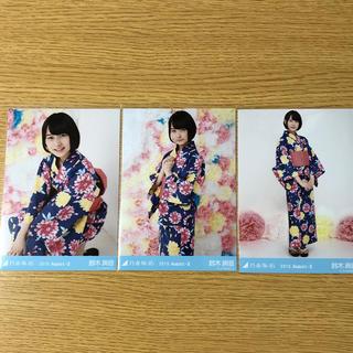 ノギザカフォーティーシックス(乃木坂46)の鈴木絢音 生写真 浴衣 コンプ(アイドルグッズ)