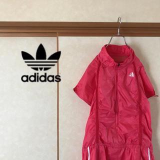 adidas - adidas アディダス ハーフジップ 五分丈ナイロンジャケット レディース