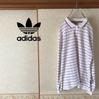 アディダス(adidas)の【極美品】adidas CLIMALITE 長袖ボーダーポロシャツ レディース(ポロシャツ)