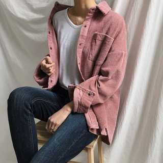 全2色♡コーデュロイシャツ オルチャン 韓国 くすみカラー(パーカー)