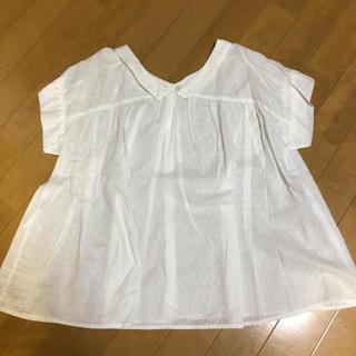 サマンサモスモス(SM2)の♡美品♡ドット刺繍 前後着ブラウス(シャツ/ブラウス(半袖/袖なし))