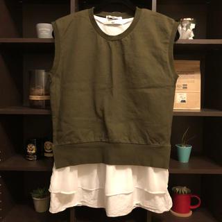 スライ(SLY)のカットソー×フリルタンクトップ♡2点セット(カットソー(半袖/袖なし))