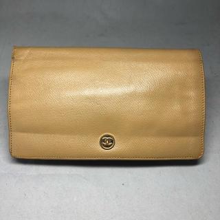 6ef96040155d シャネル(CHANEL)のシャネル 二つ折り 長財布 ココボタン ベージュ 正規品(