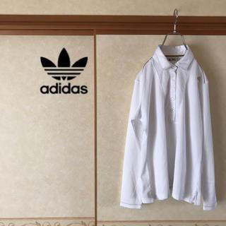 アディダス(adidas)の極美品 adidas アディダス ワンポイントロゴ 長袖ポロシャツ レディース (ポロシャツ)