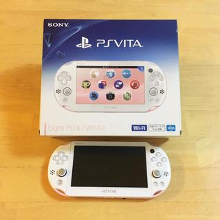 プレイステーションヴィータ(PlayStation Vita)の美品*PS vita ピンク✕ホワイト 本体(携帯用ゲーム本体)