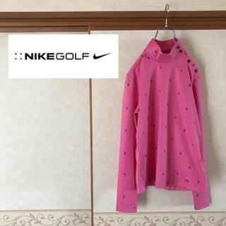 ナイキ(NIKE)の【極美品】NIKE GOLF ナイキゴルフ ダイヤ総柄 モックネック インナー(ウエア)
