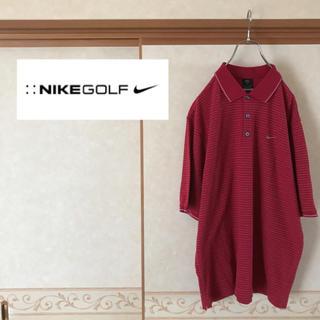 ナイキ(NIKE)の【美品】NIKE GOLF ワンポイントロゴ 五分丈ボーダーポロシャツ メンズ(ウエア)