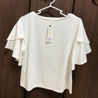 ジーユー(GU)のGU 白カットソー 新品(カットソー(半袖/袖なし))