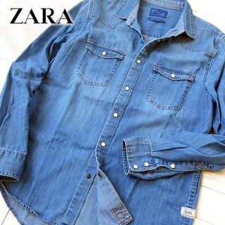 超美品 (USA)M ザラ ZARA MAN メンズ デニムシャツ/ダンガリー