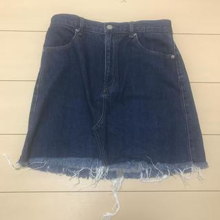 ジーユー(GU)のジーンズスカート(ミニスカート)