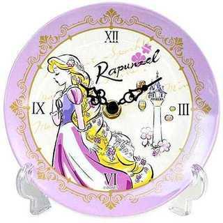 ディズニー プリンセス 置き時計 メラミントレークロック アナログ ラプンツェル