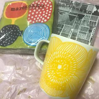 マリメッコ(marimekko)のmarimekko  マグカップ&ナプキン(テーブル用品)