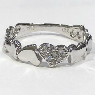 K18WG ダイヤモンド リング ハートモチーフ(リング(指輪))