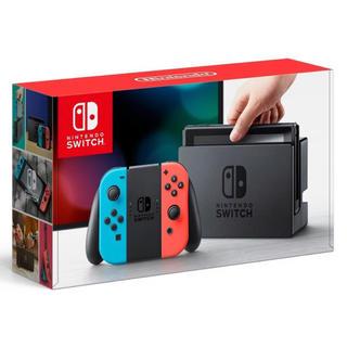 ニンテンドースイッチ(Nintendo Switch)の【2台】 ニンテンドースイッチ コン(L) ネオンブルー/ (R) ネオンレッド(家庭用ゲーム本体)