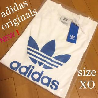 アディダス(adidas)の新品 adidas アディダスオリジナルス ビッグロゴ Tシャツ 半袖 ブルー(Tシャツ/カットソー(半袖/袖なし))