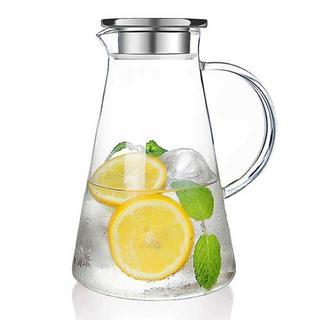 【在庫わずか】耐熱 ガラスポット 麦茶ポット 直火 対応 2.0リットル(容器)
