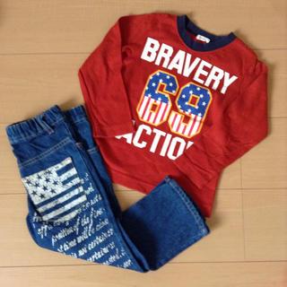 アコバ(Acoba)の【専用】アコバ 長袖Tシャツ デニム セット 100(Tシャツ/カットソー)