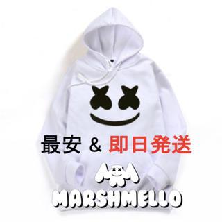マシュメロ marshmello 日本未発売品 パーカー 白 Lサイズ