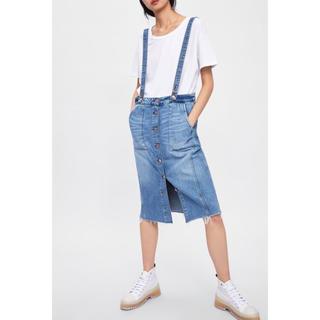 ザラ(ZARA)のZARA フロントボタンスカート(ひざ丈スカート)