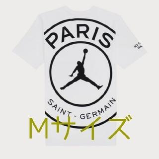 ナイキ(NIKE)のPSG × NIKE JORDAN Tシャツ WHITE Mサイズ(Tシャツ/カットソー(半袖/袖なし))