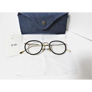 アーバンリサーチ(URBAN RESEARCH)の新品 D'sh one hundred one 眼鏡 ブラック ゴールド 日本製(サングラス/メガネ)