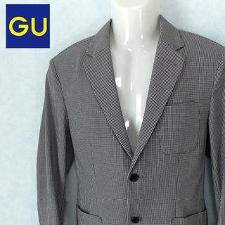 ジーユー(GU)の【GU】 美品 ジーユー チェック柄ジャケット ポリエステル サイズM(テーラードジャケット)