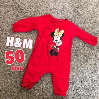 エイチアンドエム(H&M)のH&M ミニーロンパース 50(ロンパース)