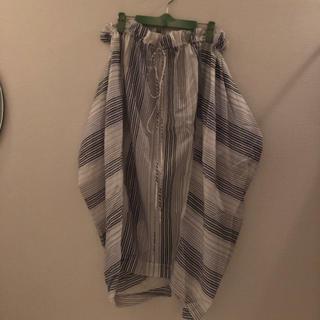 ステラマッカートニー(Stella McCartney)のstellamccartney ストライプ変形スカート(ロングスカート)
