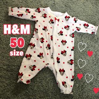 エイチアンドエム(H&M)のH&M ロンパース 50(ロンパース)