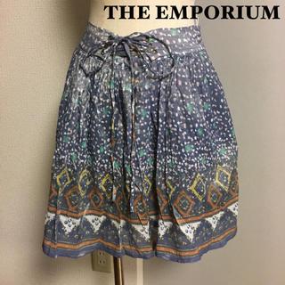 ジエンポリアム(THE EMPORIUM)の【THE EMPORIUM】ジ エンポリアム  レースアップ シフォンスカート(ミニスカート)